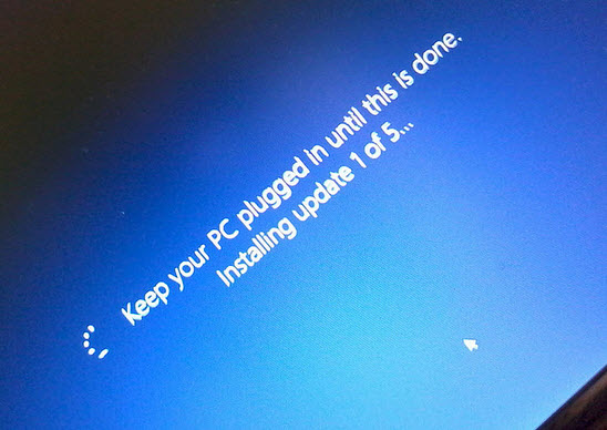 untimely windows update