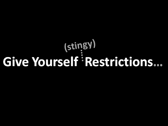 Stingy Design Restrictions