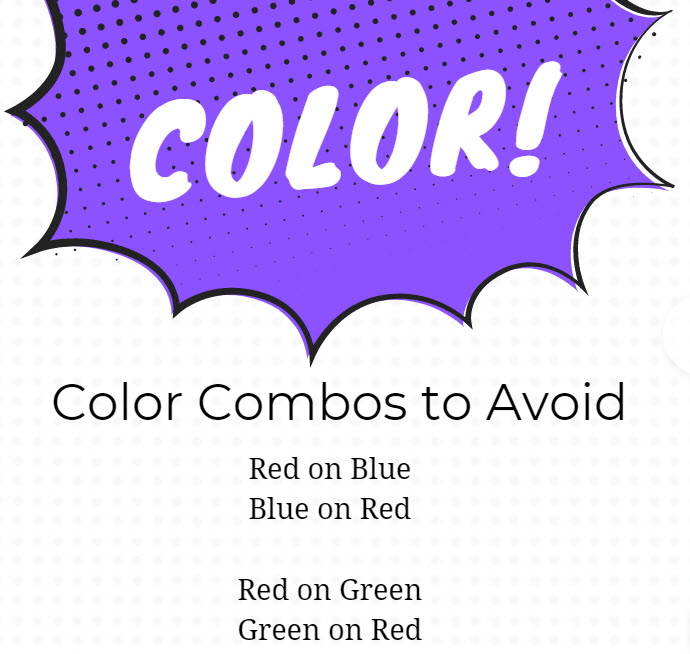 Check color contrasts for accessibility
