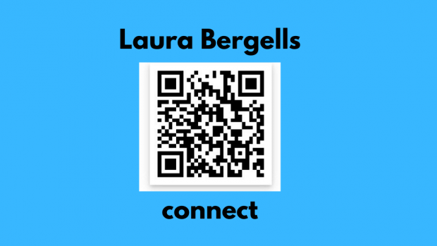 QR code that links to LinkedIn profile