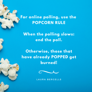 Zoom meeting popcorn rule for polls