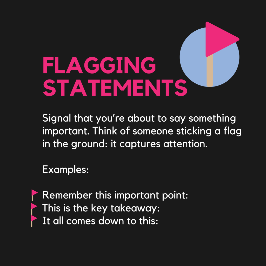 Flagging Statements