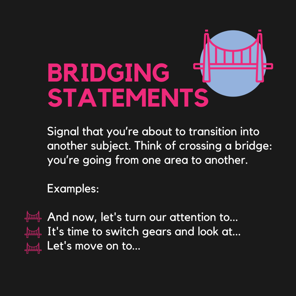 Bridging Statements